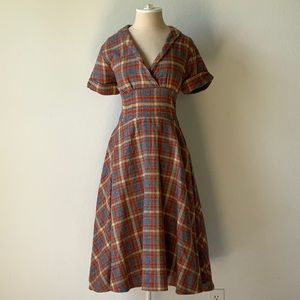 NWOT fall vintage 50s style Bettie Page dress